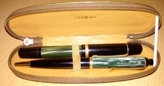 set vintage pelikan stilou si creion