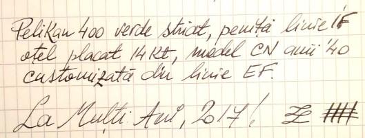 mostra scris penita veche pelikan