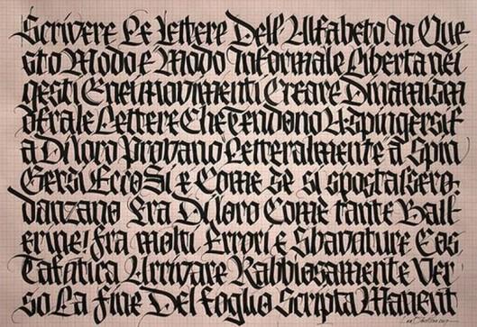 mostra scris caligrafic